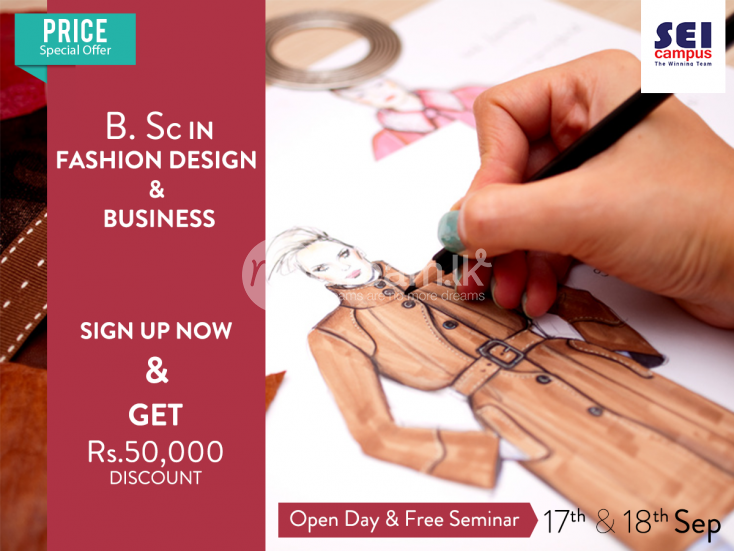 Higher Education Bsc In Fashion Design Sei Campus Nugegoda Mydream Lk