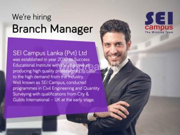 Branch Manager Vacancy - SEI Campus