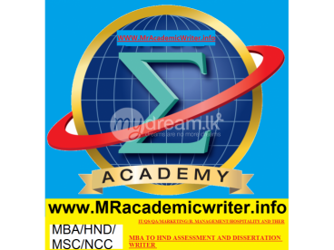 B.SC, MSC, MBA, HND ACADEMIC WRITING