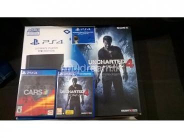 PS4 1TB Ultimate 2 DS4 + 3 Games