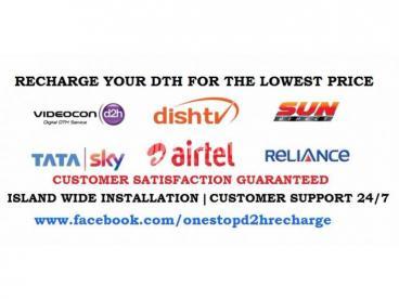 Videocon DishTV SunDirect DishTV Lanka Connection & Recharge