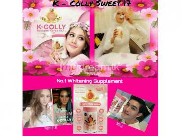 K-Colly sweet whitening suppliment.