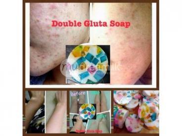 Double gluta whitening soap.
