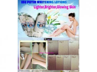 Ibu Putih Whitening Lotion