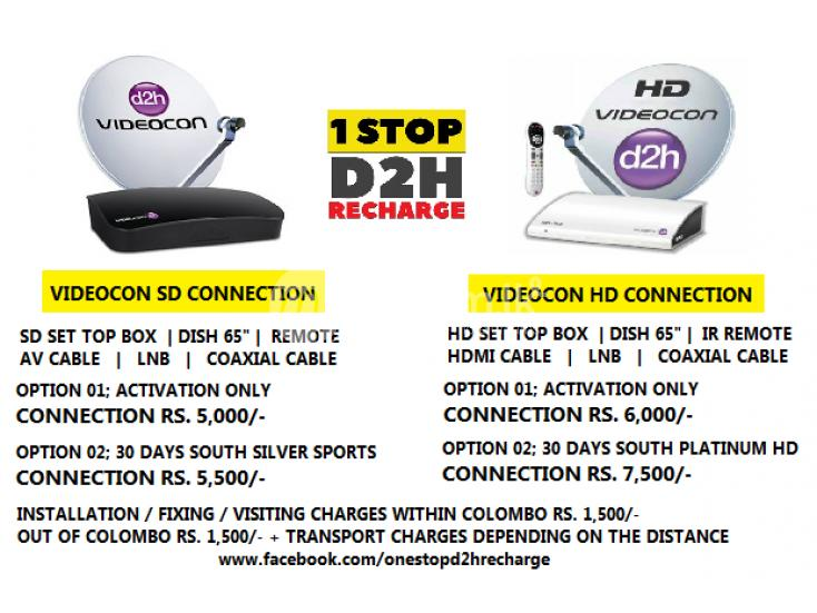 Services Videcon Dish TV SunDirect Airtel Connection