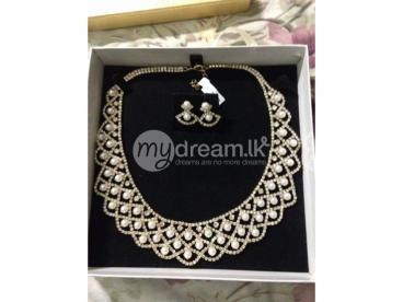 Pearl & Chrystal bridal jewelry set