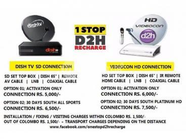 Dish TV Videocon HD Connection