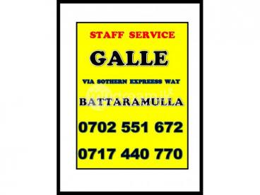 Galle - Battaramulla Staff Service ( 0717 440 770 )