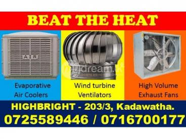 High Volume exhaust fans, Exhaust fans Srilanka, Air Coolers Srilanka, Evaporative air coolers sril