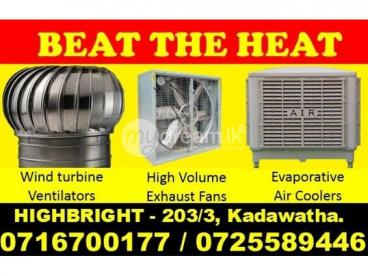 High Volume exhaust fans, Exhaust fans Srilanka, Air Coolers Srilanka, Evaporative air coolers srila