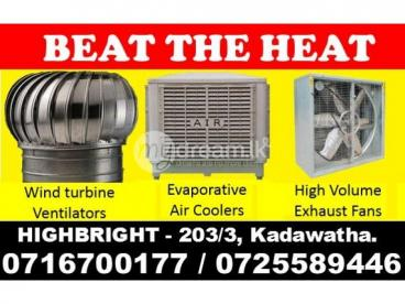Wind turbine ventilators, Exhaust fans Srilanka, Air Coolers Srilanka, Evaporative air coolers srila