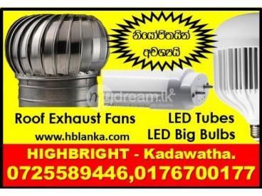 Big LED Bulbs Srilanka , T8, 2ft, 4ft LED tubes Srilanka,Wind turbine ventilators, LED Panel Lights,