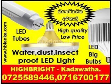 Big LED Bulbs Srilanka , T8, 2ft, 4ft LED tubes Srilanka,