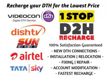Videocon Dish TV Sun Direct Airtel Tatasky Jio Recharge