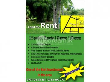 •Bare  land for long term rent in Katunayake
