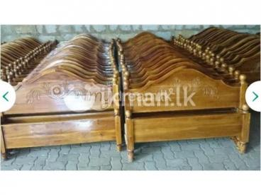 NEW TEAK BED (Arch Bed – 6*5)