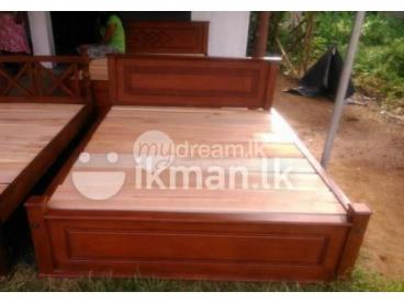 NEW TEAK BED (Box Bed – 6*4)