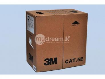 3M CAT 6 305 CABLE BOX (100hms U/ UTP PVC 4 Pairs Cable 24AWG)