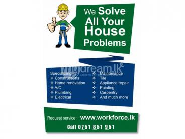 Plumbers, Electricians and Carpenters in Colombo