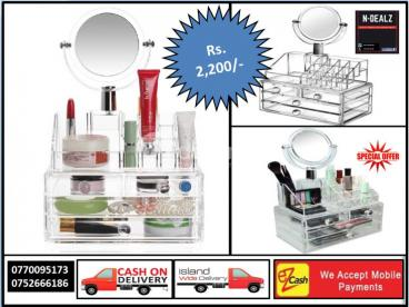 Cosmetic & Makeup Organizer with Mirror