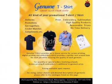 Promotion T-shirt/ Shirt - Genuine T-Shirts