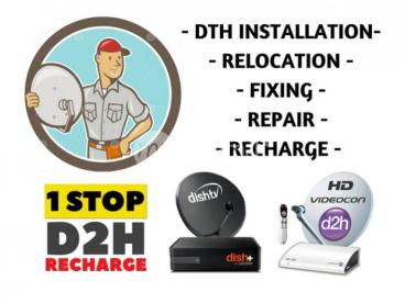 Dialog TV Dish TV Videocon D2h Satellite Installations Fixing & Repair