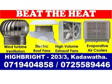 Electric roof fan, roof extractors srilanka  ,  Ventilation systems, solutions suppliers srilanka