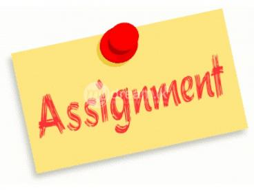 Assignments for HND/Bachelors/MBA