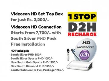 Videocon d2h HD New Connections
