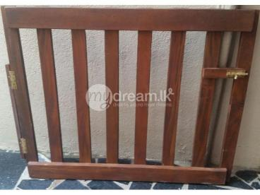 Child Safety Wooden Staircase Gates Set
