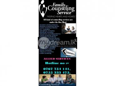 All kind of counseling services are under the One Roof