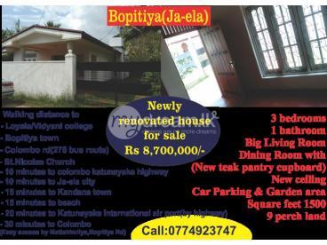 House for sale at Bopitiya-jaela
