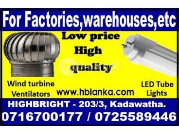 Wind turbine ventilators, LED tube light srilanka,roof ventilators, ventilation fans ,Roof Exhaust f
