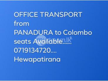 staff transport  wadduwa to fort/panadura to rajagiriya