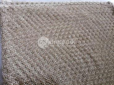 Rich look Bridal saree with pearl work