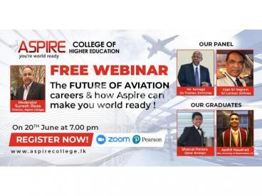 FREE Webinar on the Future of Aviation from ASPIRE College of Higher Education. Don't miss it!